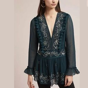 New Anthropologie Ranna Gill Catarina Tunic Blouse